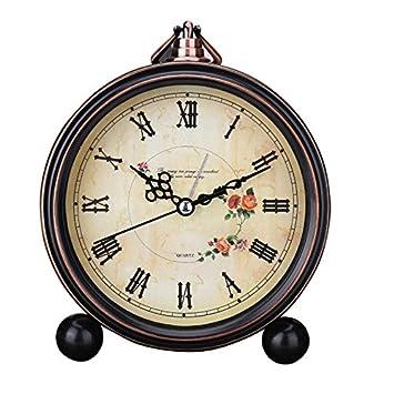 KOMO Silencio minimalista moderno reloj de sobremesa modelo personalizado creativo de arte moderno salón dormitorio cama de hierro temporizada alarma, ...