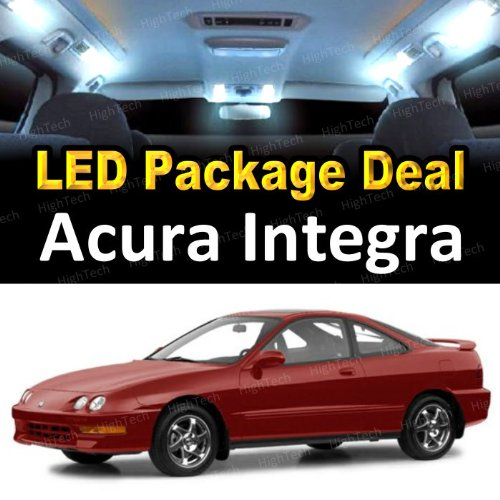 LED Interior Package Super Bright White Light Bulbs for 1996 - 2001 Acura INTEGRA ( 6 Pieces )