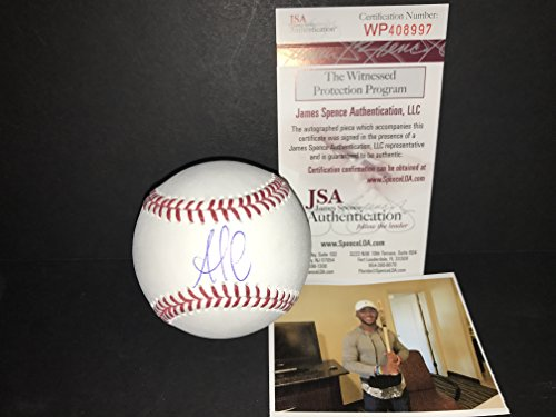 bf1fe104d1b Ozzie Albies Atlanta Braves Autographed Signed Official Major League  Baseball JSA WITNESS COA