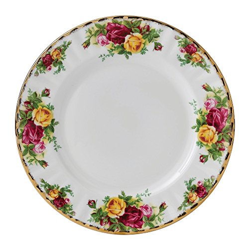 Royal Albert Old Country Roses Salad (Yellow Rose Dinner Plate)