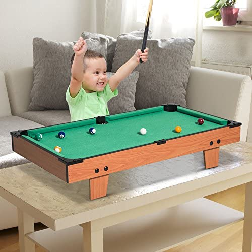 HOMCOM Mesa de Billar con Accesorios Juego de Billar de Madera para Niños +3 Años y Adultos 75x41.5x16.5cm: Amazon.es: Juguetes y juegos