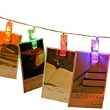 KoKeo_Store 20 LED Photo Clip String Lights - 5M Battery Powered LED Picture ...