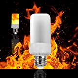 LED Flame Effect Fire Light Bulbs,E26 LED Flickering Flame Light Bulbs,Simulated Decorative Light Atmosphere Lighting Vintage Flaming Light Bulb for Festival Hotel/ Bars/ Home Decoration Restaurants