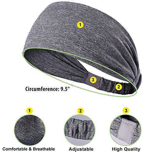 Yoga Headbands for Cycling, Running, Fitness, Athletics, Super Soft Polyester Sweat Headbands with Adjustable, Stylish and Versatile Design. Perfect for Light Workouts, Stretching Pilates and - Faces Thin Hairstyles Best For