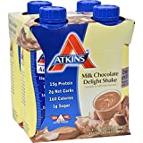 Cheap Atkins Ready To Drink Shake, Milk Chocolate Delight, 4 Count (Pack of 6)