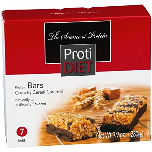 ProtiDiet Crunchy Cereal Caramel Bar - 9.9 oz - 7 Bars by Protidiet