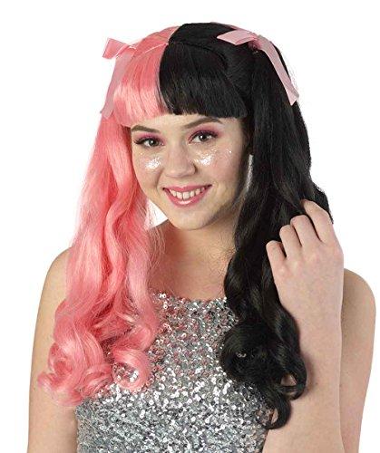 American Singer Long Wavy Style Wig, Pink/Black Adult HW-1101 ()