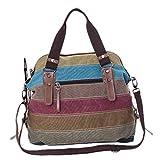 Crossbody Bags,Hemlock Women Girl Canvas Travel Bag Shoulder Handbag (Colorful)