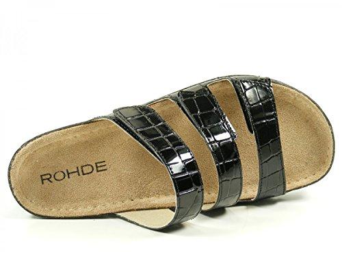 Rohde Riesa-40 - Mules Mujer Schwarz (Schwarz)