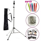 Lihui Mannequin Head Stand Wig Stand Tripod Adjustable Tripod Stand Holder With Carry Bag