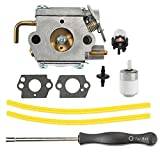 Buckbock 753-04333 Carburetor with Turn Up Kit for Bolens BL150 BL100 BL250 Yard Man Machines YM20CS YM1000 YM1500 YM320BV YM400 YM70SS 2800m Y28 Y725 Y780 Trimmer Rep 791-182875 791-182062