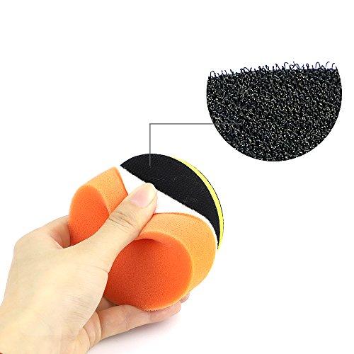 Coceca 26PCS 3 Inch Car Foam Drill Polishing Pads, Buffing Sponge Pads Kit for Car Sanding, Polishing, Waxing,Sealing Glaze by Coceca (Image #3)