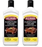 Weiman Wood Cleaner and Polish 8 fl. oz. [2 Pack] Use On Furniture