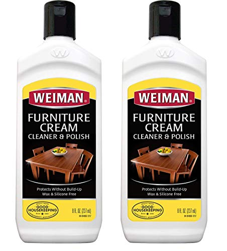 Weiman Wood Cleaner and Polish 8 fl. oz. [2 Pack] Use On Furniture, Wood Table Cleaner, Cabinet Restorer, Conditioner, Polish - Furniture Oil