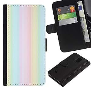 Paccase / Billetera de Cuero Caso del tirón Titular de la tarjeta Carcasa Funda para - dust summer lights summer purple - Samsung Galaxy S5 Mini, SM-G800, NOT S5 REGULAR!