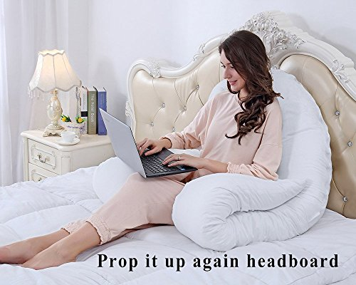QUEEN went up by Pregnancy Body Pillow Maternity Pillow for Back Pain using 1 extractible Pillow Cover