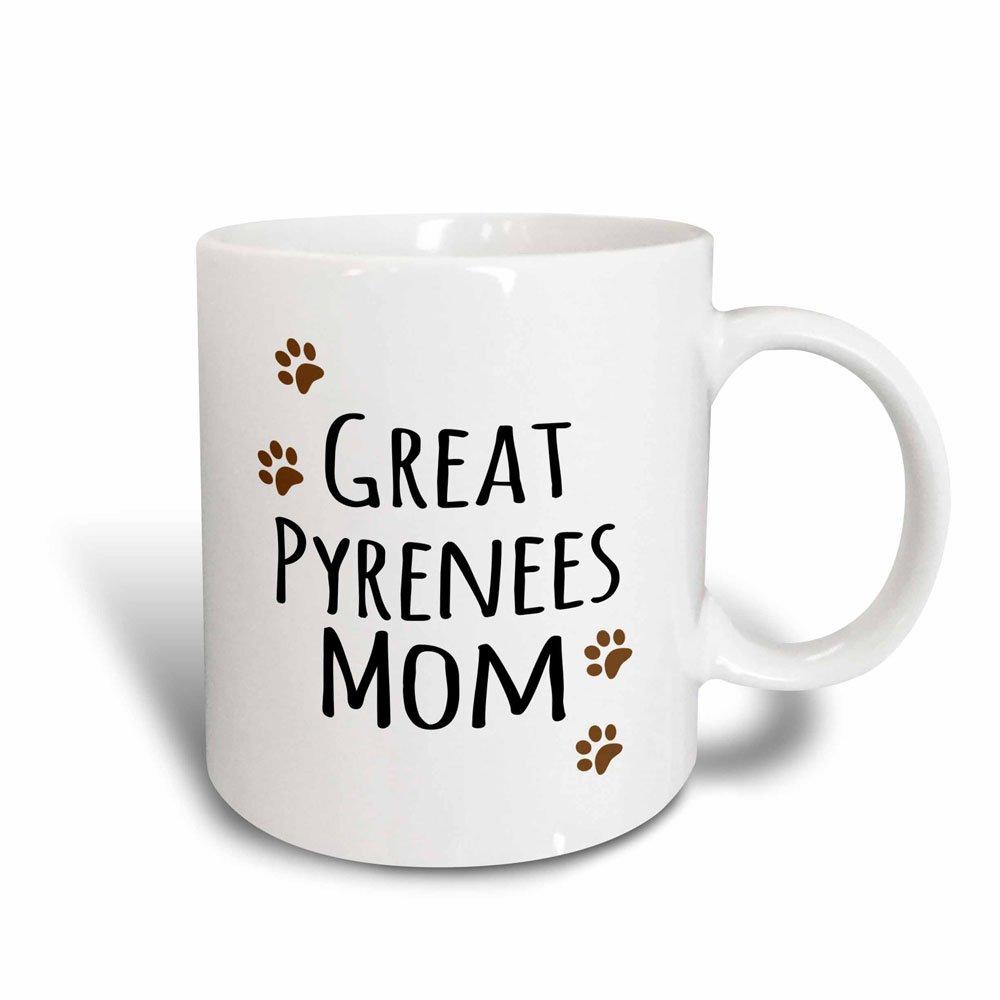 3dRose 154129_2 Pyrenees Dog Mom Mug 15 oz Ceramic mug_154129_2
