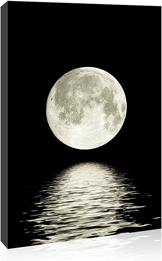 Amazon.com: Canvas Wall Art Prints Moon Pictures Printed On Canvas