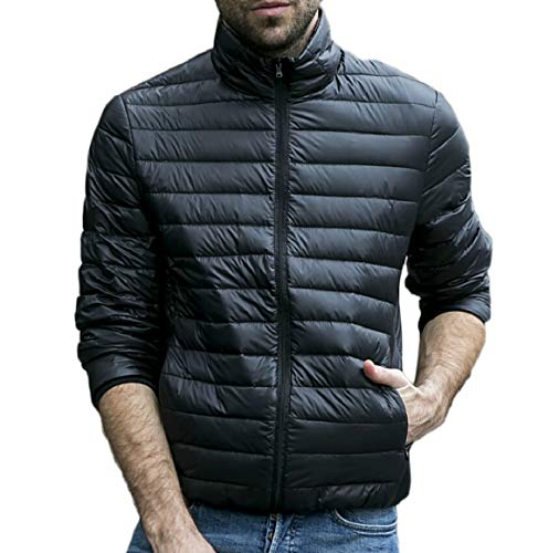 Resistant Down Packable Lightweight Coat Water Men's security Black Jacket qwtRZgZ