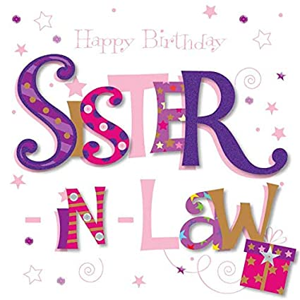 Amazon Sister In Law Happy Birthday Greeting Card By Talking