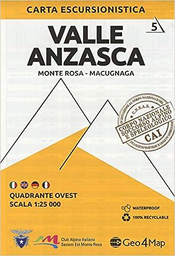 Carta escursionistica Valle Anzasca  Scala 1:25 000  Ediz  italiana