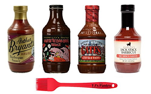 Kansas City BBQ Variety Pack + TJs Pantry Silicone Basting Brush (Spicy ()