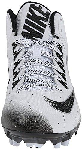 Nike Mens Alpha Pro 2 Football Cleat White/Black Size 9.5 M US