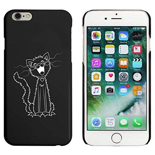 Noir 'Chat Chantant' étui / housse pour iPhone 6 & 6s (MC00038213)