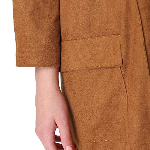 Lunga Donna Giacca Colour Autunno Trench Se Moda Primaverile Eleganti 1 Camoscio Vintage fB5wwnqd