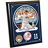 MLB New York Yankees Brett Gardner  8 x 10 Plaque with Game Used Yankee Stadium Dirt