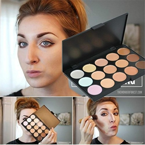popfeel Professional 15 Colors Concealer Camouflage Contour Eye Face Cream Makeup Palette Powder By DMZing (JCH-0C)