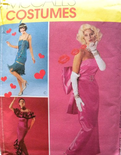 McCall's 3385 Misses Glamour Costumes: Flapper, Marilyn Monroe, Spanish Dancer Sewing Pattern Size (Flapper Dancer)