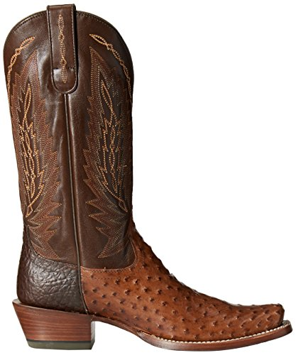 Western Show Brandy Boot Stock Ostrich Quill Ariat Cowboy Men's Full Tobacco Royal qt1wFgxS