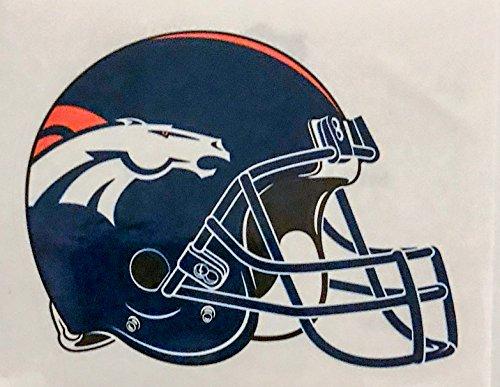 (aa g 4 Pack Denver Broncos Die Cut Stickers NFL Football Helmet Logo Sticker Team Set Orange Crush)