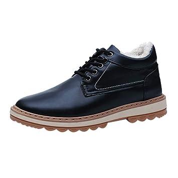LILICAT❋ Invierno más Terciopelo Impermeable Casual más algodón Zapatos Altos Hombres Casual Plus Snow Boots