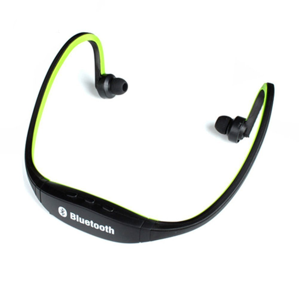 Amazon.com: Bluetooth Wireless Headset Stereo Headphone Earphone Handfree Sport Universal Auriculares Headphones Earbuds With Mic SD Card Slot (Green): Cell ...
