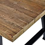 "Amazon Brand – Rivet Rustic Industrial Wood and Metal Dining Room Kitchen Table, 86.6""L, Fir"