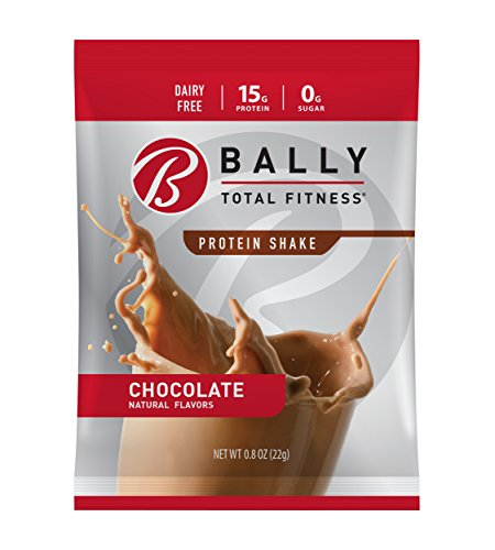 - BALLY TOTAL FITNESS, Protein Powder, Chocolate, 16 Packets, 15g Protein, Soy-Free