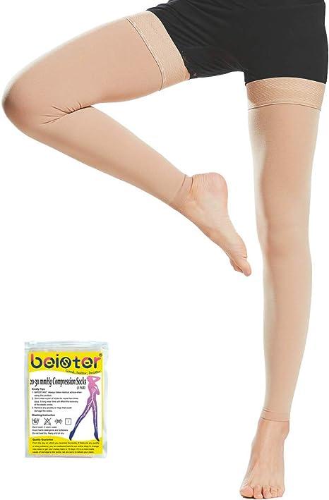 +MD Calze compressive 23-32mmHg Calze elastiche Calze alte con compressione