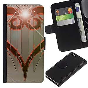 LECELL--Cuero de la tarjeta la carpeta del tirón Smartphone Slots Protección Holder For Apple Iphone 6 -- Diseño tribal --