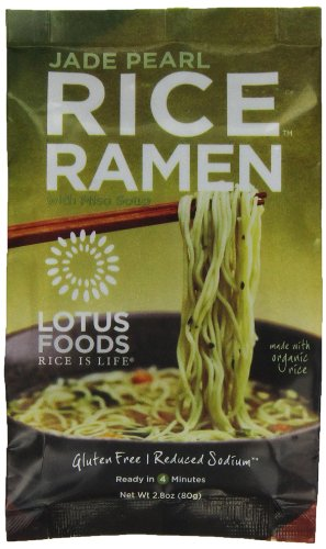 UPC 708953601021, Lotus Foods Rice Ramen Noodles, Jade Pearl Rice with Miso Soup, 10 Count