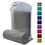 Balhvit Cooling Towel, Cool Towel for Instant Cooling Relief, Chilling Neck Wrap, Ice Cold Scarf for Men Women, 47x14'', Microfiber Bandana - Evaporative Chilly Towel for Yoga Golf Travel Beach