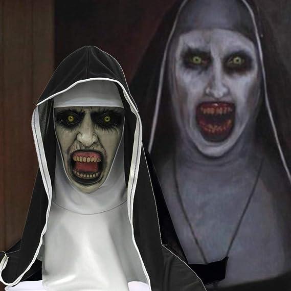 SWAOOS La Monja máscara de Terror Halloween máscaras de Miedo Fiesta Cosplay Payaso Mascarada Mascara Fantasma Terror máscara látex Casco Divertido: Amazon.es: Juguetes y juegos