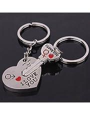 """Sleutel tot het hart """"I Love You"""" Sleutelhanger voor koppels / geliefden Hart en sleutel als Set"""