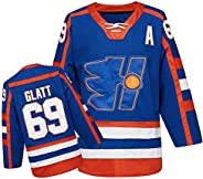 Doug The Thug #69 Glatt Halifax Highlanders Ice Hockey Jersey Blue S-XXL