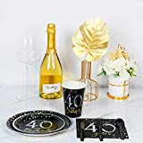 Decorlife Party Plates and Napkin Sets, 40th