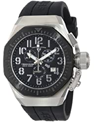 Swiss Legend Mens 10540-01-BB Trimix Diver Chronograph Black Dial Black Silicone Watch