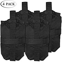 TopCamp 4 Packs Sand Bags for Camping Tent, Weight Bags for Pop up Canopy Tent, Sun Shelter, Patio, Gazebo, Holding up 30lbs~40lbs, 300 cu in Capacity