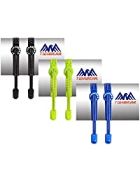3 Pairs No Tie Shoelaces - Elastic and Reflective Laces with Lock for Athletes, Adults and Kids - Replacement Shoe Strings for Running, Tennis and Golf by Tigabear