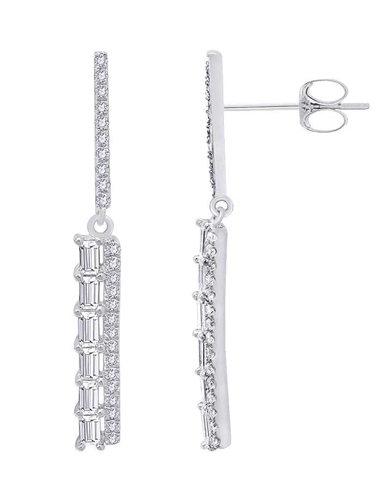 Weißszlig; natürlicher Diamant 0,5 Karat Fashion Ohrringe in Tropfenform 14 ct 585 Massiv Weißszlig; Gold 14 Karat (585) WeißGold